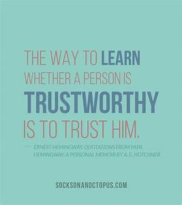 Trustworthy Leader Quotes. QuotesGram