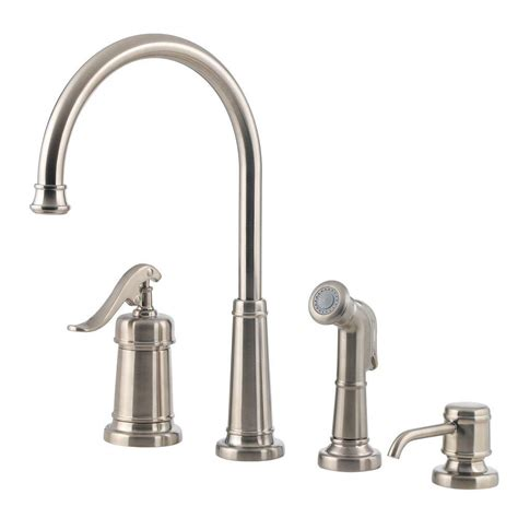 kitchen faucets brushed nickel pfister ashfield single handle standard kitchen faucet