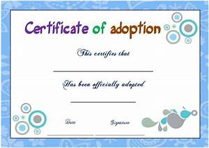 14 blank adoption certificate templates for you to With blank adoption certificate template