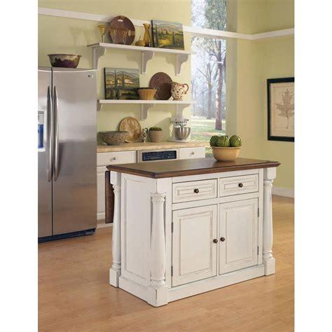 home styles monarch white kitchen island  drop leaf