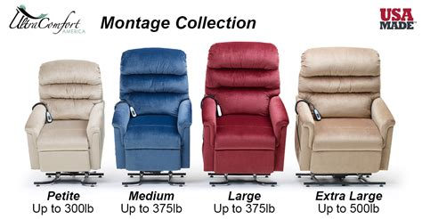ultra comfort montage collection of power recliners at