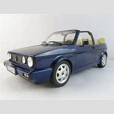 Vw Golf 1 Cabrio Bel Air 1992 Blau Metallic Modellauto 1