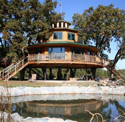 Amazing Ewoklike Treehouse Village Includes 1800 Sq Foot