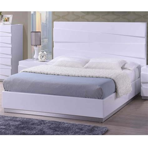 White Headboards King Size Beds by Stirling King Size Bed In White High Gloss 26314 Furniture