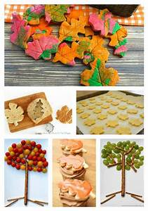 Autumn Baking with Kids ~ Tree and Leaf Snacks