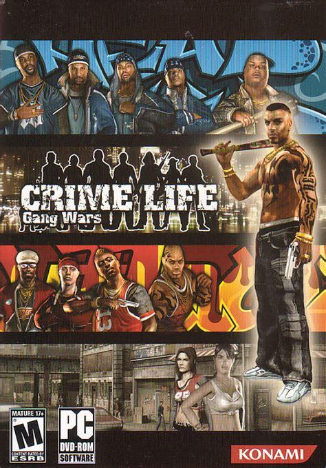 crime life gang wars konami pc gangster game   box ebay
