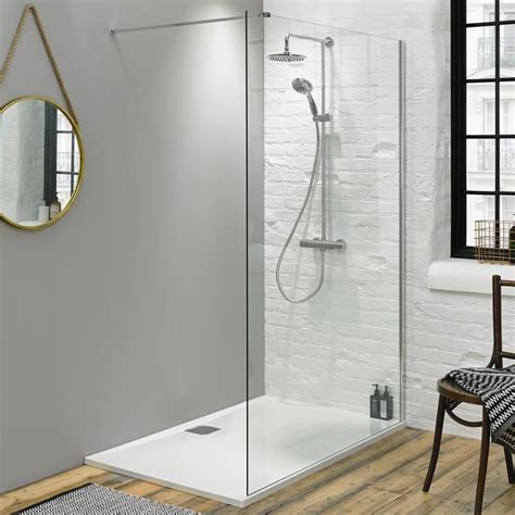 fino 1400mm walk in shower screen with 25mm shower tray