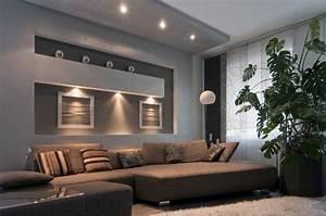 Eclairage Salon Sejour : syst me d 39 clairage lumiere variable sejour clairage minimalist home furniture room lights ~ Melissatoandfro.com Idées de Décoration