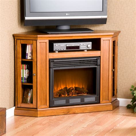 Inspirations Beautiful Corner Fireplace Tv Stand For