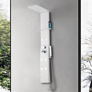 Colonne De Douche Blanche : colonne de douche hydromassante a150 colonne d ~ Dailycaller-alerts.com Idées de Décoration