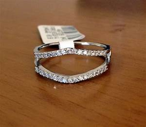 025 ct solitaire enhancer diamonds ring guard wrap 14k With wedding wrap ring