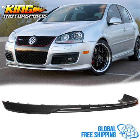 for 05 10 vw golf mk5 gti jetta v style front bumper lip