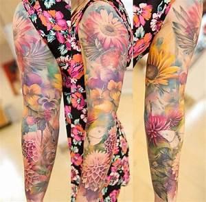 Tattoo Ganzer Arm Frau : ganzer arm mit blumen t towiert tatoo pinterest t towieren blumen und tattoo ideen ~ Frokenaadalensverden.com Haus und Dekorationen