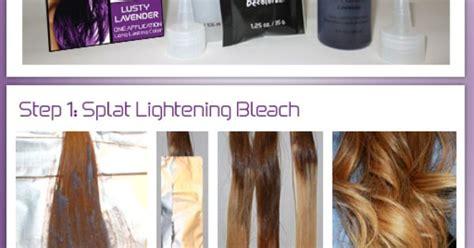 Splat Ombre Dip Dye Diy Splat Hair Color Ideas