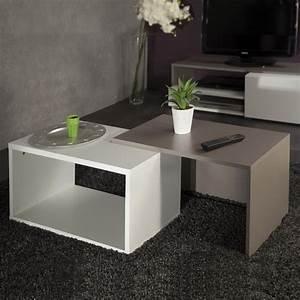 Table Basse Bois Pas Cher : table basse taupe pas cher le bois chez vous ~ Carolinahurricanesstore.com Idées de Décoration