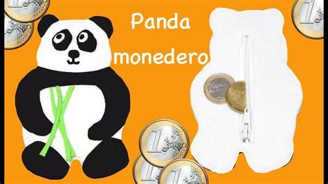 panda monedero de goma o foamy youtube