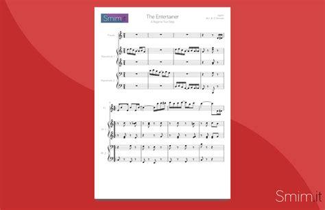 The Entertainer (spartito Per Flauto E Pianoforte A 4 Mani