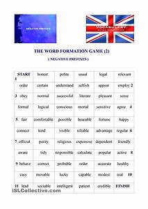 The Word Formation Game  2  Negative Prefixes