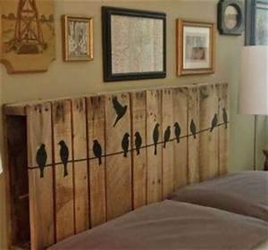 tete de lit originale a faire soi meme maison design With carrelage adhesif salle de bain avec creche noel led