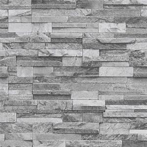 Fliesen Sale Kamen : p s international slate brick pattern faux stone effect textured wallpaper 42106 40 light grey ~ Indierocktalk.com Haus und Dekorationen