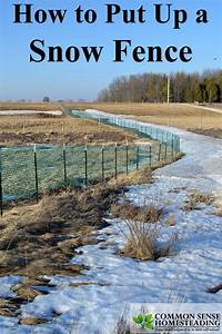 Diagram Of Where To Put Snow Fence