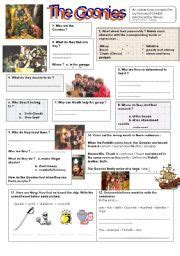 quot the goonies quot and the s journey worksheets and