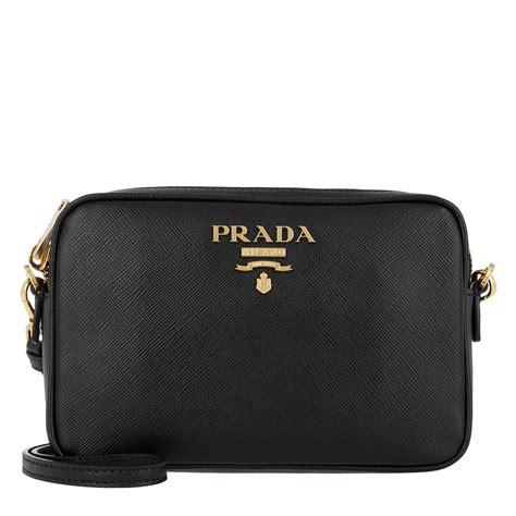 prada crossbody bag medium saffiano leather black  black