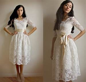 stylish collections of short lace vintage wedding dresses With short lace wedding dresses
