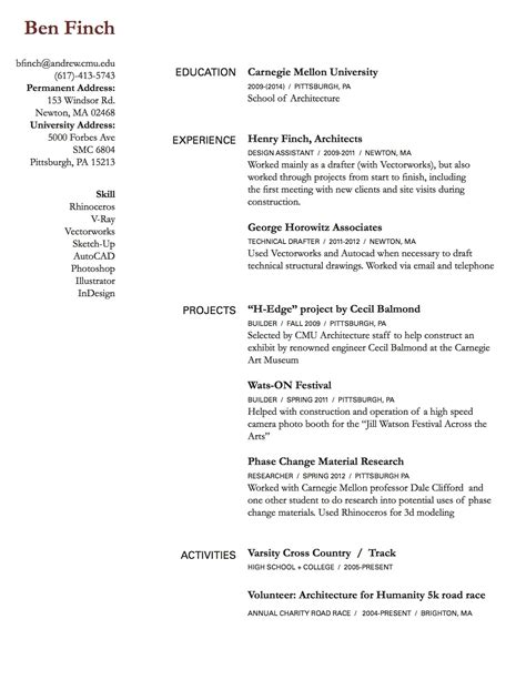 Resume Draft by Resume Draft Ben Finch Cdf