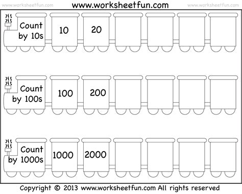 Skip Counting By 10, 100 And 1000  Worksheet  Free Printable Worksheets Worksheetfun
