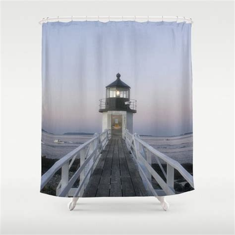 lighthouse shower curtain marshall point lighthouse shower curtain shower curtain