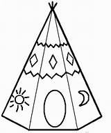 Teepee Coloring Pages Tipi American Tipis Printable Indian Teepees Native Yahoo Colouring Sheets Results Flag Para Colorear Paper Uploaded Getcolorings sketch template