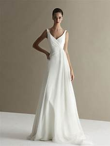 6 plain wedding dresses for chic and simple style With plain simple wedding dresses