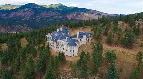 modern mansion floor plans aerial pics of chateau v in evergreen co homes of the rich