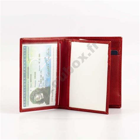 porte carte d identite portefeuille cuir format carte d identit 233 bizoubox fr