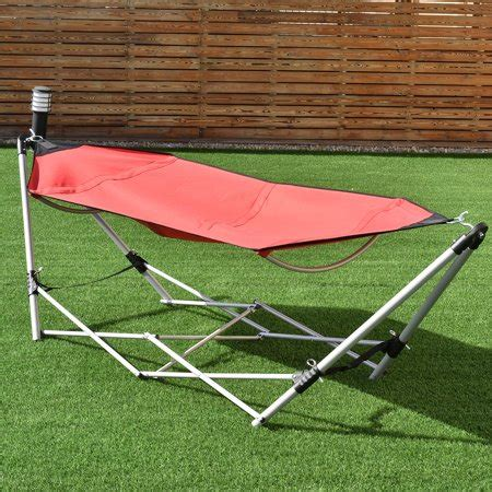 Hammock Carry by Portable Folding Hammock Lounge Cing Bed Steel Frame W