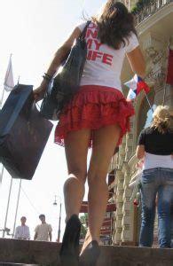 upskirt   city street long legs  heels sexy