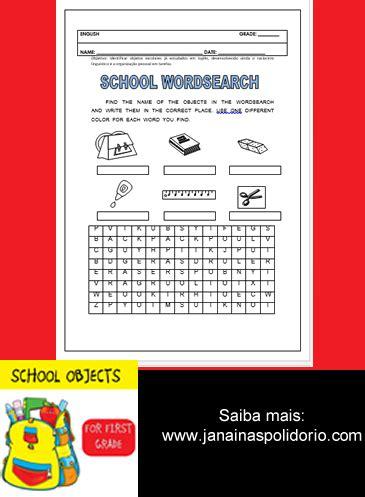 As 25 melhores ideias de Objetos escolares em ingles no
