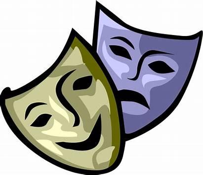Drama Masks Draw Designs Computer Cliparts Theater