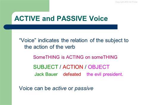 Passive Vs Active Voice  Ppt Download