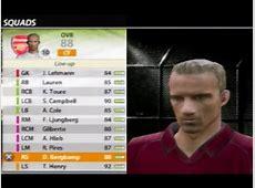 Fifa 06 Arsenal Squad YouTube
