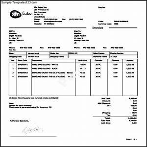 sample invoice pdf sample templates sample templates With tree work invoice