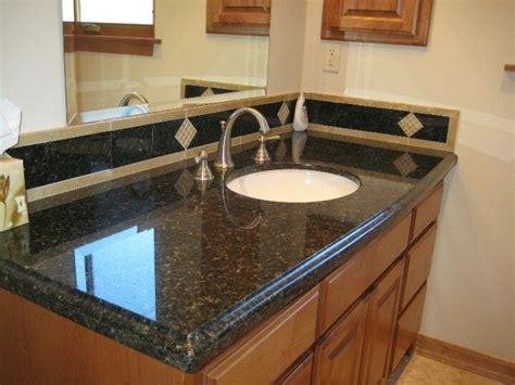 uba tuba granite vanity top  custom backsplash