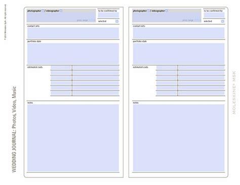 moleskine notebooks  wedding planning templates