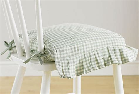 Auberge duckegg frilled seat pad