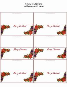 christmas place card templates invitation template With place card printing template