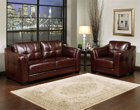 Living Room Paint Colors With Burgundy Furniture by Burgundy Leather Sofa Armchair Set Like The Wall
