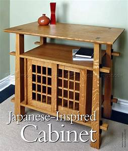 Japanese Cabinet Plans • WoodArchivist