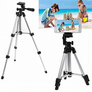 TSV Phone Tripod, Extendable Lightweight Aluminum Camera Tripod Stand with Universal Cell Phone ...