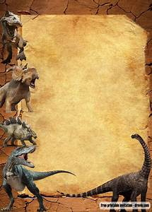 Jurassic Park Invitations Free Jurassic Park Dinosaurs Vintage Invitation Templates